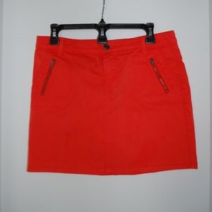 Gap Red Skirt with Zipper Pockets